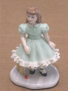 Lee Wollard Studio Polly Young Girl Figurine Green