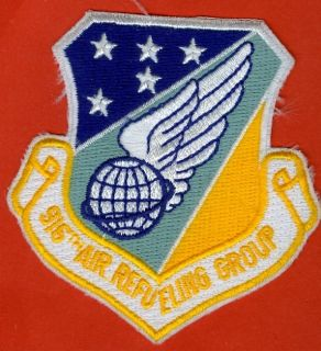 USAF U s Air Force 916th Air Refueling Group Squadron Patch