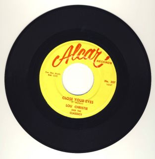 RARE Doo Wop Lou Christie Classics Close Your Eyes Alcar