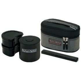 Japanese Lunch Box Set Skter Lunch Thermos Black