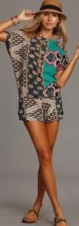 Lucy Love Backless Romper Jade Maldives Print Sizes XS s M