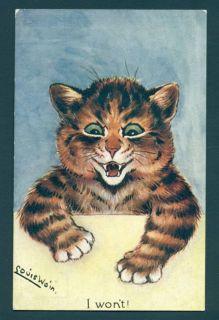 B2432 Louis Wain Cat Postcard I WonT Faulkner 453 E
