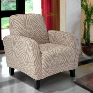 Lugo Contemporary Style Design Zebra Gray Fabric Club Chair