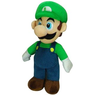 Super Mario Plush 6 Luigi Soft Stuffed Plush by Goldie