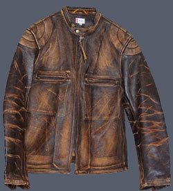 LEVI STRAUSS LVC BONNEVILLE CAFE RACER LEATHER MOTORCYCLE BIKER JACKET