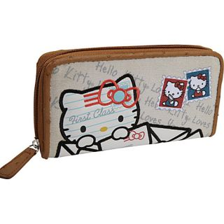 Loungefly Hello Kitty Mail Wallet Tan with Colored