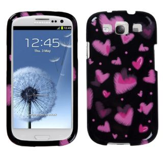 Pink Black Hearts Love Hard Case Cover for Samsung Galaxy S3 s 3 III