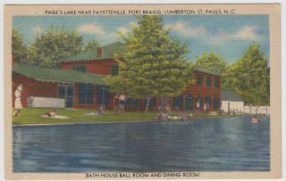 Lake Fayetteville Fort Bragg Lumberton St Pauls Linen Postcard