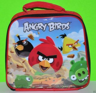 Angry Birds Lunch Bag Lunch Box Insulated Lunch Tote Bag Rovio Bag Red