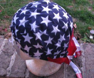 Headwraps Doo Du Rags Biker Welder Skull Bandana Cap USA American Flag
