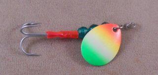 Pike Salmon Fishing Lure Luhr Jensen Rainbow Spinner 1 4 oz Trolling