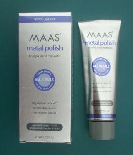 Maas Metal Polish Made in USA Fine Polishing Creme 4 Oz