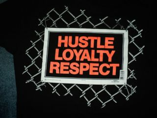 John Cena WWE Wrestling Hustle Loyalty Respect T Shirt Sz 2XL XXL