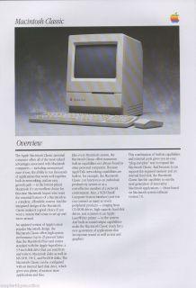 Vintage Apple Computer Macintosh Classic Brochure C 1990 Mac Australia