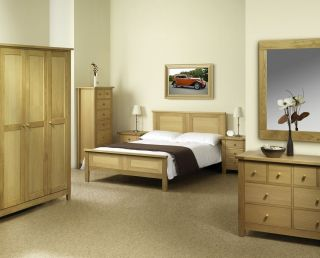 Lyndhurst Bedroom Set American White Oak Solids and VENEERS Chest of