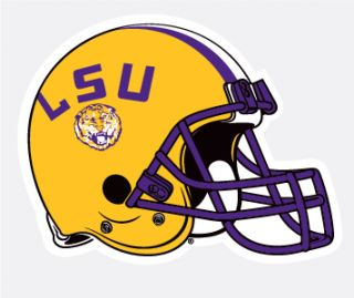 LSU Tigers Football Helmet 4 Vinyl Decal Car Truck Sticker