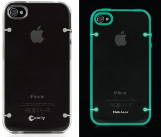 NEW MACALLY GLOW IN THE DARK SMOKE GRAY TPU SKIN CASE FOR APPLE iPHONE