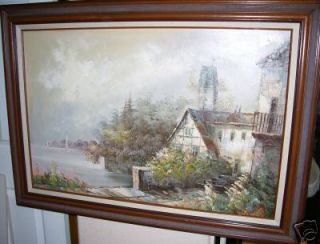 Jane Mabry Original Oil on Canvas Landscape Painting
