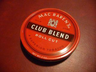 30 yr Mac Barens Macbarens Club Blend Pipe Tobacco Tin SEALED