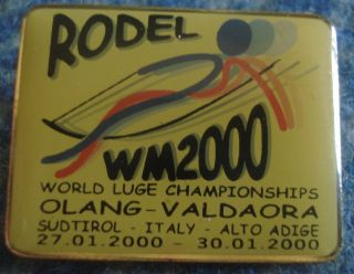 Pin Badge World Championships Luge Italy Rodel 2000