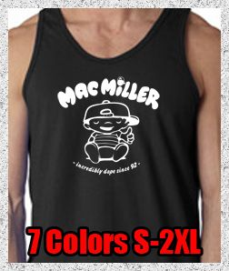 New Mac Miller Knock Knock Mens Tank Top Tee Shirt Most Dope Rap Hip