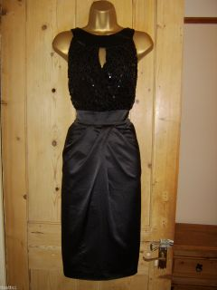 Julien MacDonald Fab Satin Sequinned Evening Party Dress Size 14