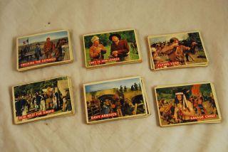 Davy Crockett Fess Parker Topps Card Disney Orange Lot