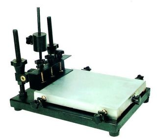 color manual flat screen printing machine for screen printer 32cm 45cm