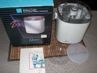 Oster Kitchen Center Ice Cream Maker Yogurt Machine Attachment 5930 20