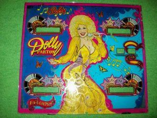 1979 Bally Dolly Parton Pinball Machine Backglass