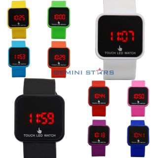 Fashion Magic LED Digital Touch Screen Colorful Silicone Date Unisex