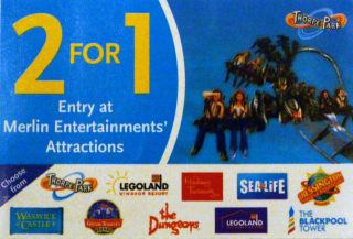 Madame Tussauds Sealife Blackpool Tower Legoland 2 For 1 Ticket