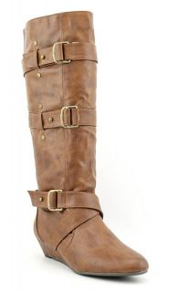 Steve Madden Girl New Ilstrate Cognac Tan Brown Tall Knee Riding