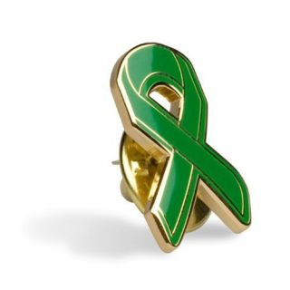 Green Ribbon Lapel Pin Support Fight Lyme Disease