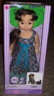 NIB New Madame Alexander Doll Avery 18 Friends Boutique 2012 Ages 3