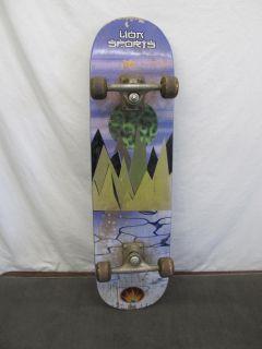 Lion Sports Skateboard Deck Skate Board w Wheels Trucks