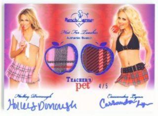 Cassandra Lynn Holly Teachers Pet Swatch Autograph 5 Benchwarmer Hot 4