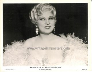 Mae West Stunning Orig 1933 Portrait Still IM No Angel