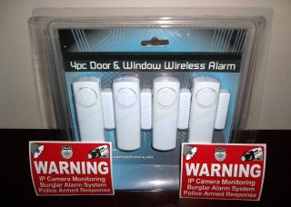 LOT OF MAGNETIC DOOR WINDOW ENTRY MOTION ALARMS SECURITY SYSTEM