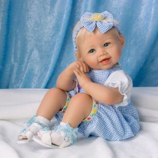 Ashton Drake Madison Poseable Lifelike Baby Girl Doll Bonnie Chyle 18