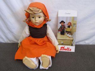 Goebel Hummel Ceramic Girl Doll Cloth Body 1983 on Holiday Hum 350 D
