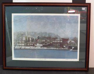 Anthony M Autorino Color Print  Rivers Edge  Lambertville NJ Listed
