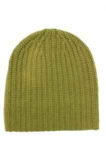 MAGASCHONI New Green Cashmere Knit Beanie Hat One Size BHFO