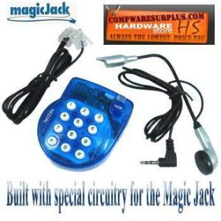 Magic Jack Super Mini Phone with Headset w Magic Jack Built in Chip Ø