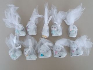 10 Vintage Ceramic Baby Animal Figurine Baby Shower Favors Cute