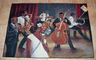 Club Magnolia Billie Holiday Jazz Tapestry Accent Rug