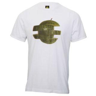 Pretty Green White T Shirt Retro Apple Print Size s M L XL XXL