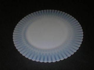 Macbeth Evans Glass Petalware Plate Salad Monax White