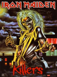 Iron Maiden Killers Rock Roll Heavy Metal Guitar Band Cult Glossy