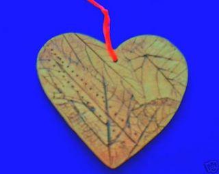 Malabar Pottery Heart Wall Design Art Leaves Natural